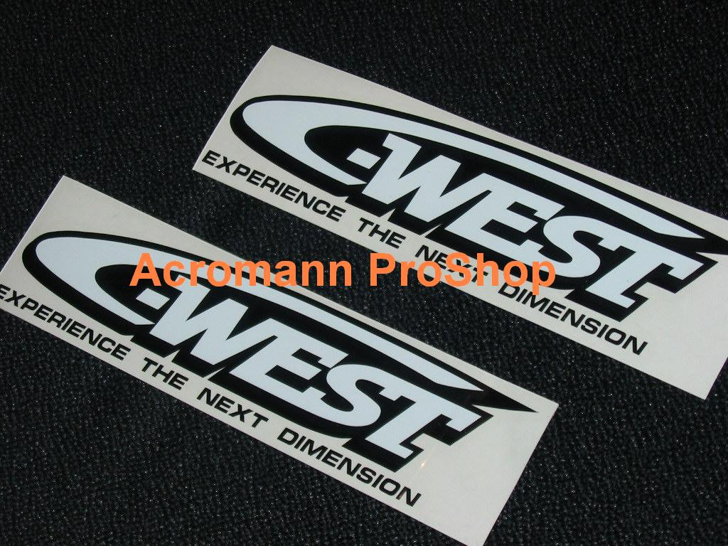 C-West 6inch Decal (Style#1) x 2 pcs